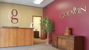 Godwin Cohesive Lobby Signage