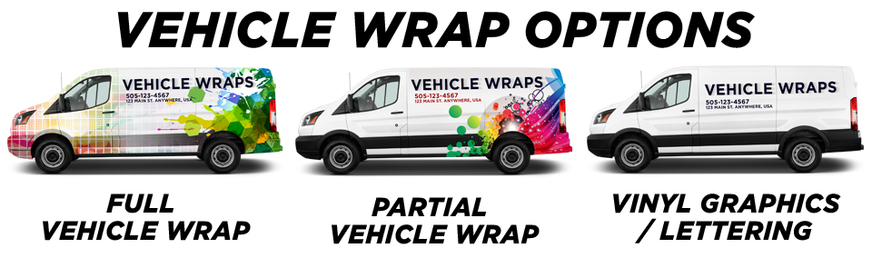 Erindale Vehicle Wraps vehicle wrap options